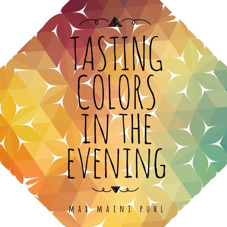 Diseño Tasting colors in the evening.