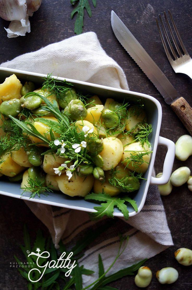 Kulinarne przygody Gatity - przepisy pełne smaku: Sałatka z bobem i ziemniakami