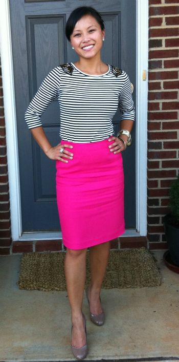 Love a hot pink skirt!! Found one two weeks ago
