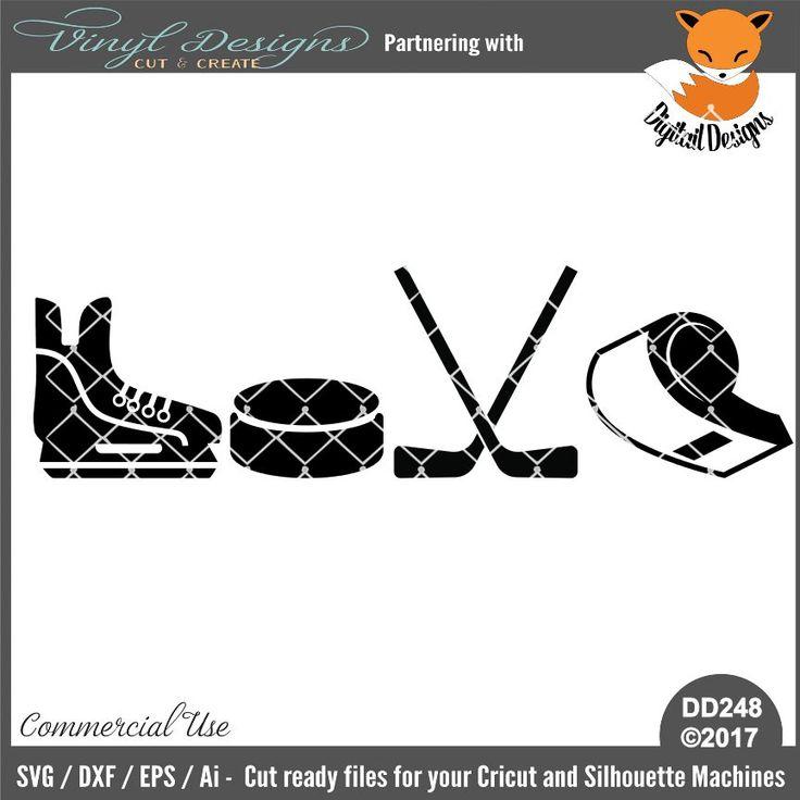 Download DD248 - Hockey Love. Sold By Digital DesignsSmall business ...