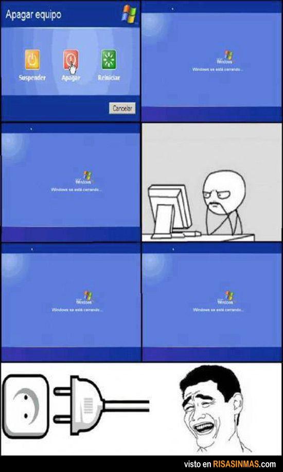 Apagando Windows. Es misión imposible.
