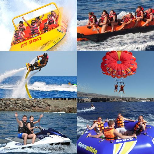 * * * Watersport Centres Gran Canaria * * *  Fancy some action this weekend? Try out some exciting, great water activities at one of the Watersport Activity Centres in the South of Gran Canaria!  http://www.whatsoningrancanaria.com/watersports-centres/  #watersports #waterfun #jetski #jetboat #parascending #bananaboat #jetovator #aquaglide #watersportcentres #grancanaria   #spain    #actividades #acuáticas #grancanaria