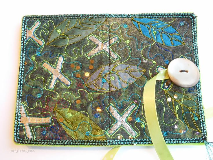 Angie Hughes Angieu0027s textile notes Workshop sample made into - sample notes