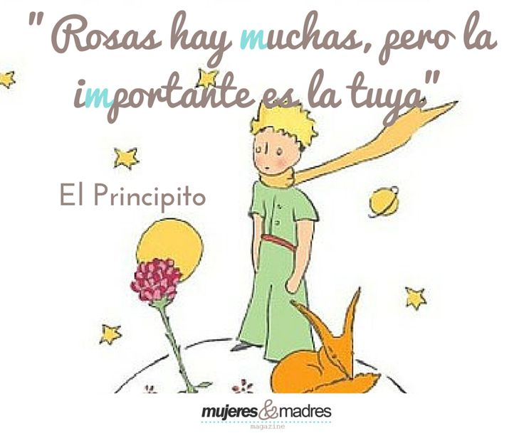 """""""Rosas hay muchas, pero la importantes es la tuya"""" El Principito #Frases"""