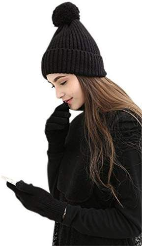 4802c8f54cd JOYEBUY Women Lady 3 PCS Knitted Set Winter Warm Knit Hat + Scarf + Touch  Screen Gloves Valentine s gift