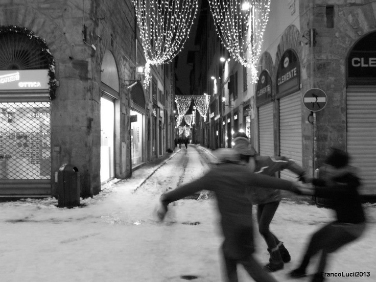 Snow in Florence, what a event!