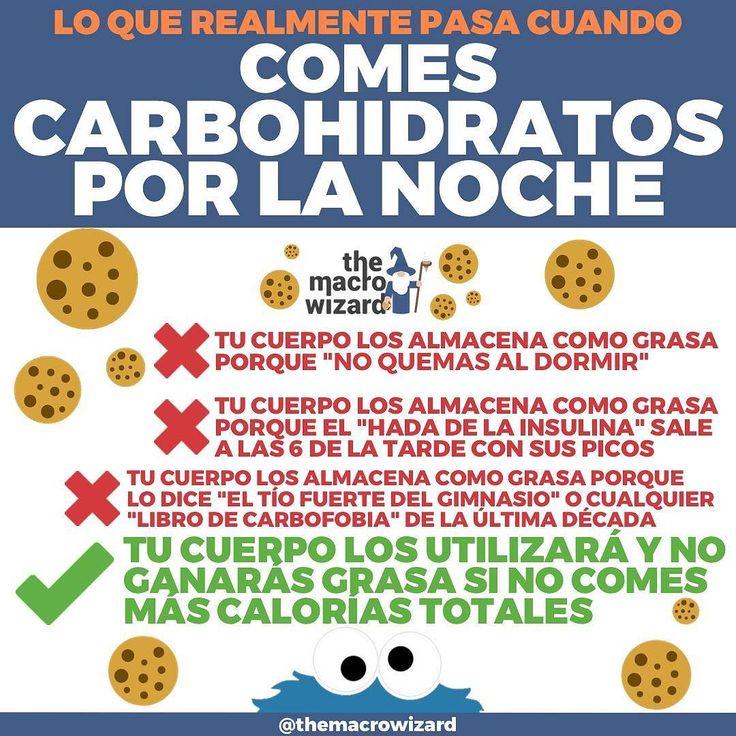 LO QUE REALMENTE PASA CUANDO COMES CARBOHIDRATOS POR LA NOCHE-  He tenido un montón de mensajes (gracias por escribirme!) sobre este tema últimamente así que un repost era necesario para que no le demos más importancia de la necesaria a cosas que no la tienen. -Hay gente que te dirá que al dormir tu metabolismo se ralentiza y todos los carbohidratos que comas por la noche se almacenan como grasa.-Otros dirán que comer carbohidratos por la noche (o incluso en cualquier momento) es malo porque…