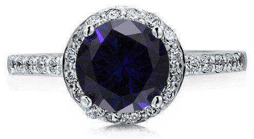 #Berricle                 #ring                     #Sterling #Silver #Round #Sapphire #Cubic #Zirconia #Halo #Ring #Band ##r474  Sterling Silver 925 Round Sapphire Cubic Zirconia CZ Halo Ring Band #r474                               http://www.seapai.com/product.aspx?PID=1263686