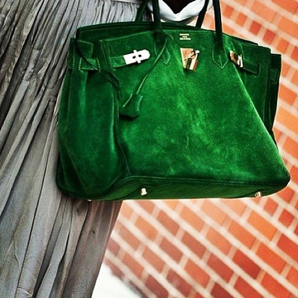 the green Hermes Birkin