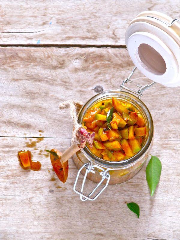 Plateful: Green Mango Pickle — Manga Achar