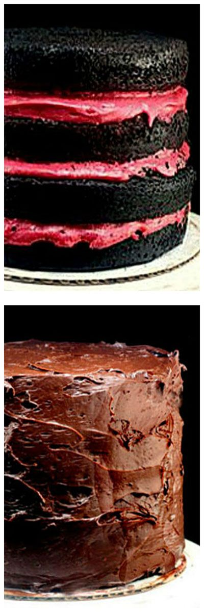 Fudgy and Moist One Bowl Dark Chocolate Cake Recipe, and the Most Amazing Fresh Raspberry Buttercream. No Food Color - All Natural.