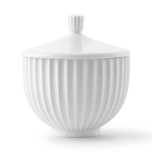 designdelicatessen ApS - Lyngby Porcelæn - Bonbonniere - Weiss glasiert - Lyngby Porcelæn