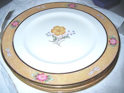 Find best value and selection for your 4 Antique Royal Cauldon China  BUTTERCUP Dinner Plates 9 England search on