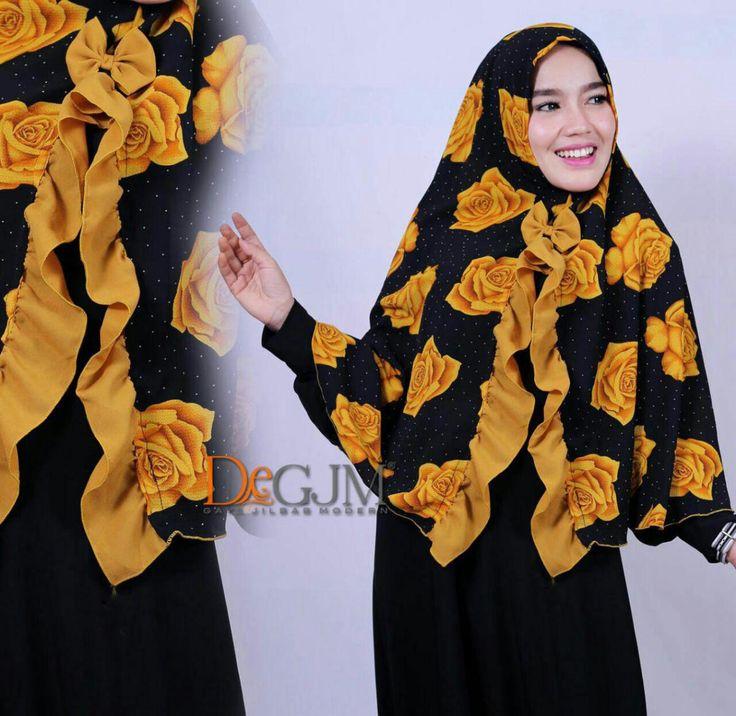 Jilbab Motif Bunga Terbaru Cantik Modern Janeta Rose