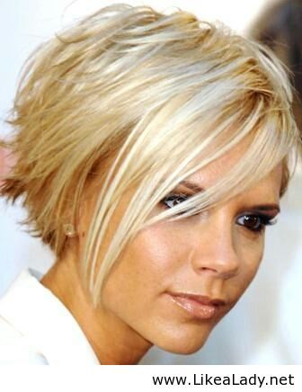 Love Posh's hair. I'll prob give this textured bob a try on the growing out process
