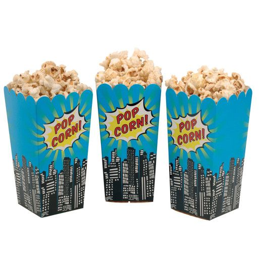 Popcorntüten – Pop Art Superhero