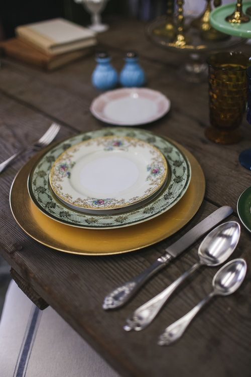 Vintage Table Setting | Vero Beach Commercial Photography