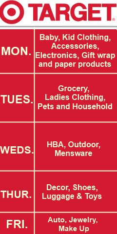 Bows & Flechas: Queen of Target Target markdown schedule. When does Target discount there items? Get the best deal on everything clearance with this handy chart.