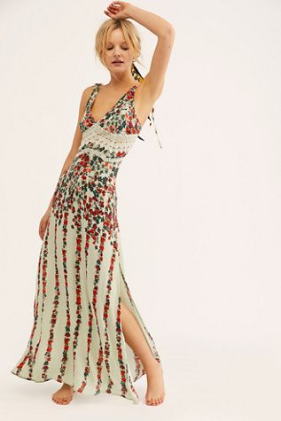 d49ac01493062 Claire Printed Maxi Slip in 2019 | Free People | Floral print maxi ...