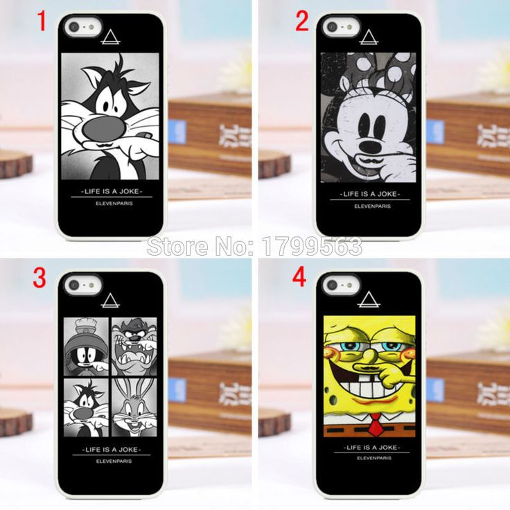 4design 8pcs/lots Coque eleven paris Cartoon cat hard White case cover for iphone6 6S i7(4.7inch) and iphone6 6S i7plus(5.5inch)
