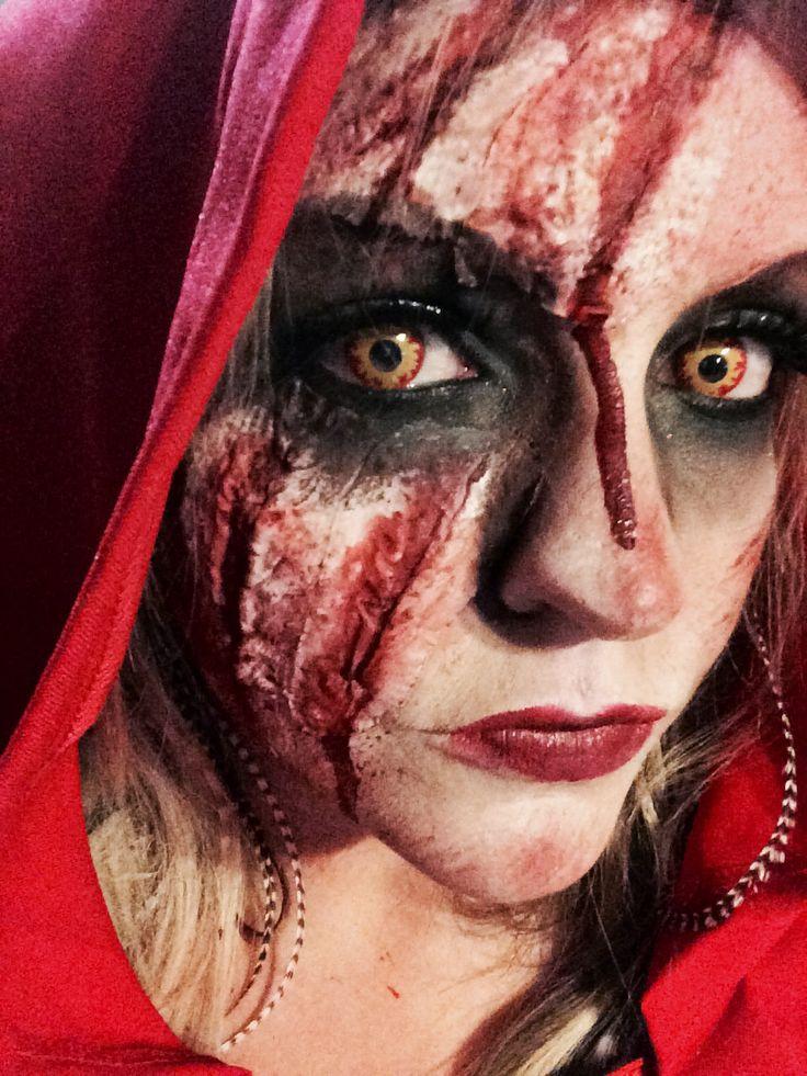 Little dead riding hood Halloween makeup
