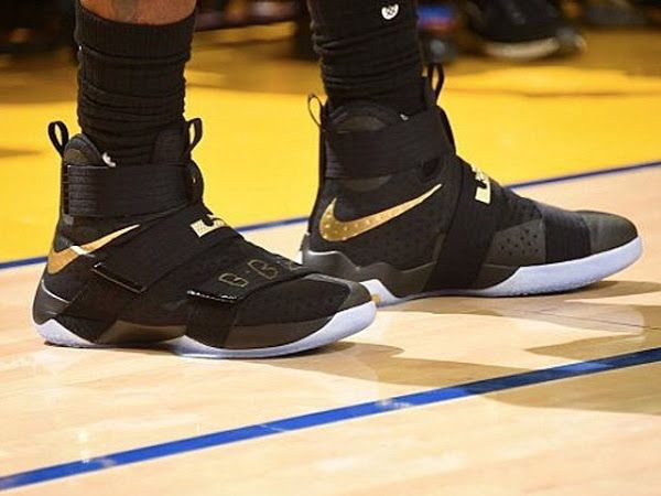 During his first ever NBA Finals appearance, LeBron James wore two pair of  shoes. the Nike Soldier They were General Release colorways with Finals 2007