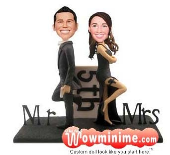 104 best Personalized wedding cake toppers images on Pinterest