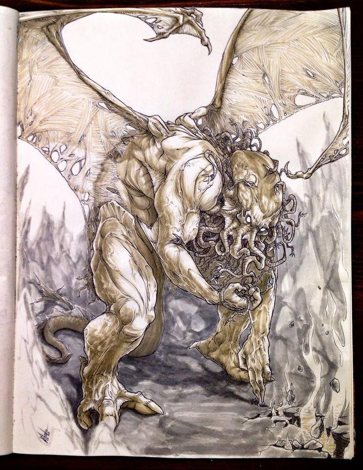 Paolo Voto - Cthulhu illustration - #vaffancthulhu #MassoneriaCreativa - www.massoneriacreativa.com