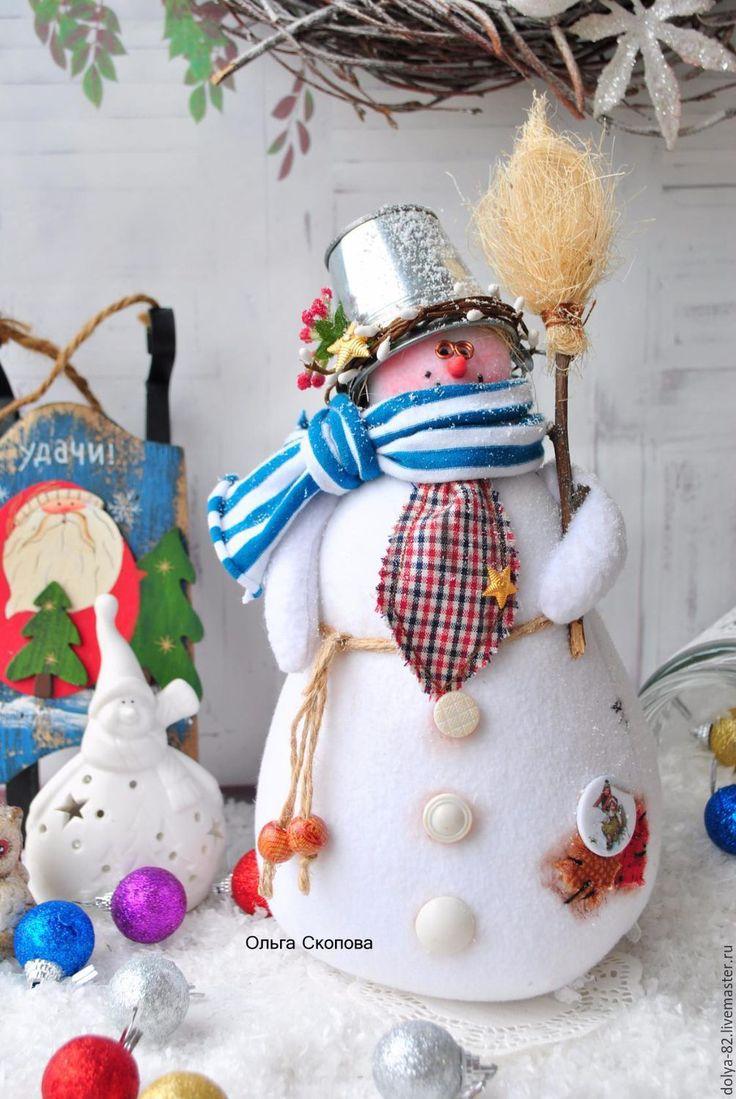 Купить Снеговик. Снеговик. Снеговик) - снеговичок, снеговик тильда, снеговик, снеговики, ольга скопова