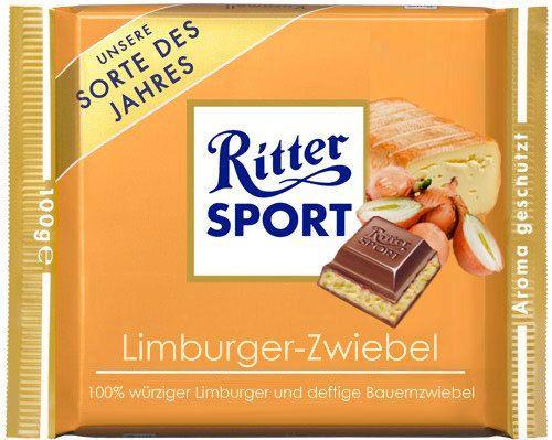 RITTER SPORT Fake Schokolade Limburger Zwiebel
