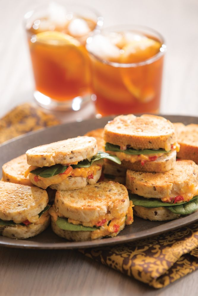 Pimento Grilled Cheese Bites - a definite crowd-pleaser for your next party.