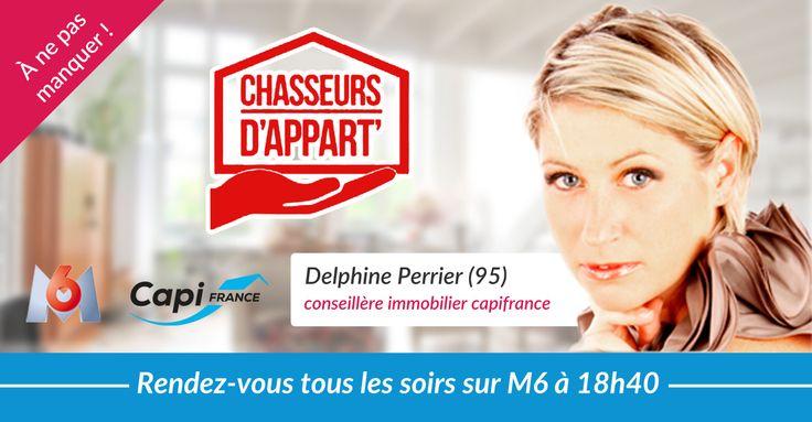 Delphine Perrier conseillère Capifrance dans l'émission de M6 Chasseurs D'appart' ! #immobilier