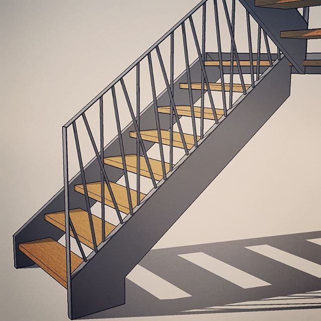 Barierka stalowa Vario #barierka metalowa @camform Vario #schody #schodydrewniane #eiketrapp #ektrappa #ektrappor