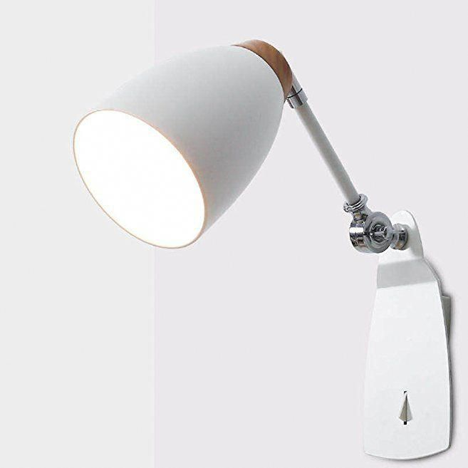 Wall Mounted Led Reading Lamp Bedside Bedroom Living Room Creative Study Modern Light Switch 3w Adjule Direction