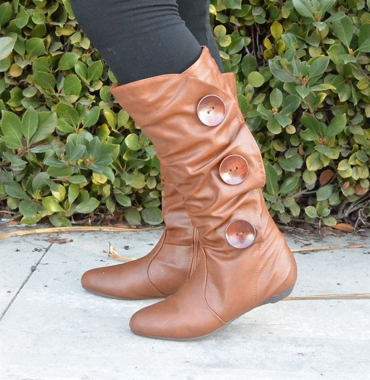 Women's Riding Boots With Buttons - 3 Assorted Colors~ {Jane Deals}