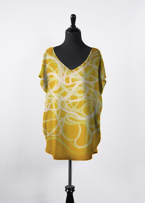 YELLOW MIST:  from the STUDIO LE GOFF collection. (just click on the image to go to the online store) #yellow #fashion #VIDA #designer #artist