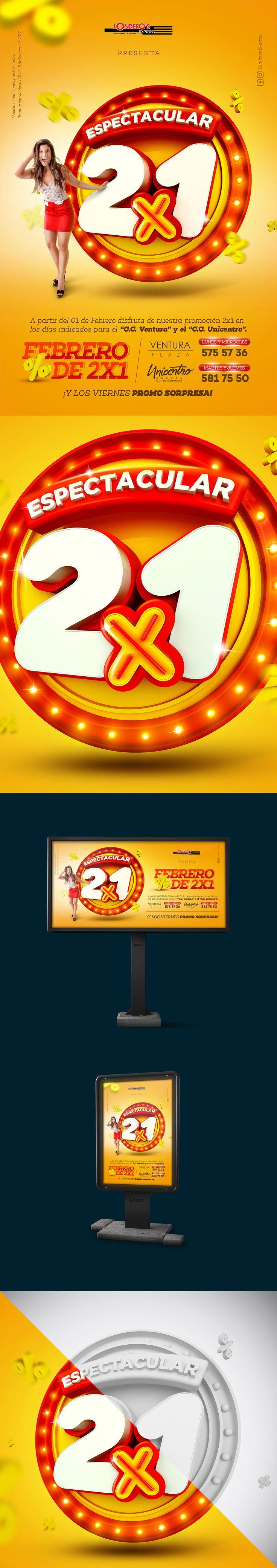 Febrero de 2x1 | Londeros Express on Behance