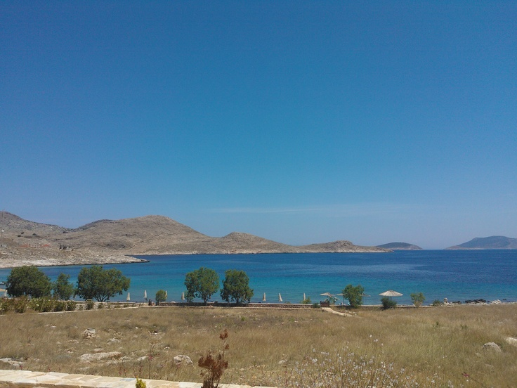 Chalki island, Rhodes, June 2012.  The seaview from the house.  Beautiful!