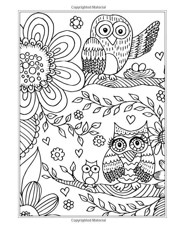 589 best images about Coloring owls on Pinterest | Adult ...