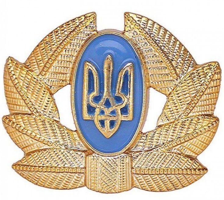 Ukraine Ukrainian Army Soldier Cockade Uniform Hat Cap Beret Badge Tryzub