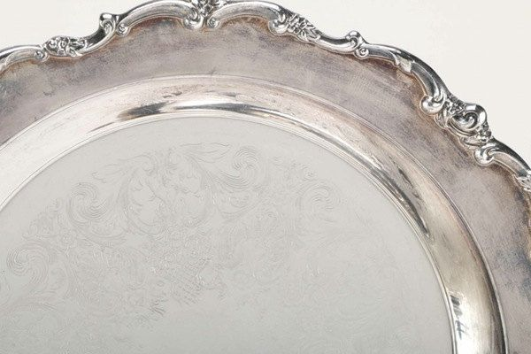 Vintage Lunt Silver | Silverplate Buffet Tray with Scalloped Edges | Modern Victorian Pattern | Buffet Dish | Silver Tray | Silver Serveware by MarketplaceVintage1 on Etsy