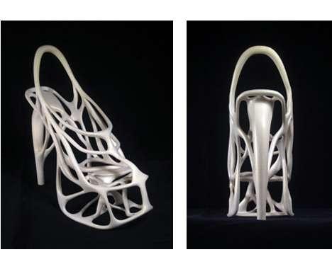 Skeletal Stilettos  The Melonia Shoe by Naim Josefi and Souzan Youssouf