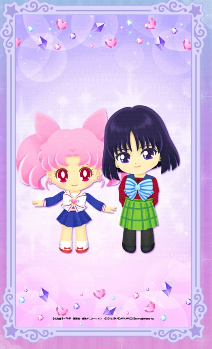 Chibiusa & Hotaru Wallpaper smart phone by Sailor moon drops