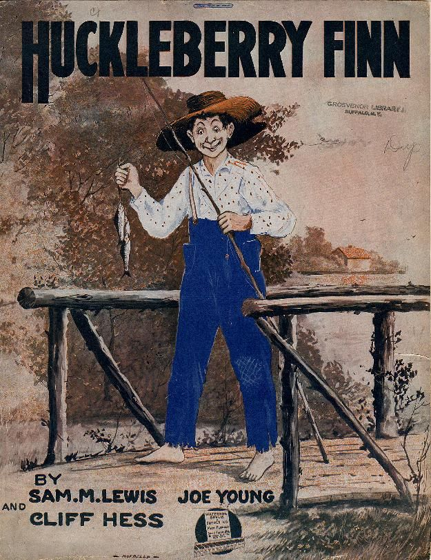 Huckleberry Finn. From Duke Digital Collections. Collection: Historic American Sheet Music. Edition: Popular ed.. Plate no.:  695-2.