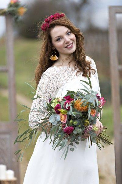 Boho-Folk. Vintage bouquet inspo.