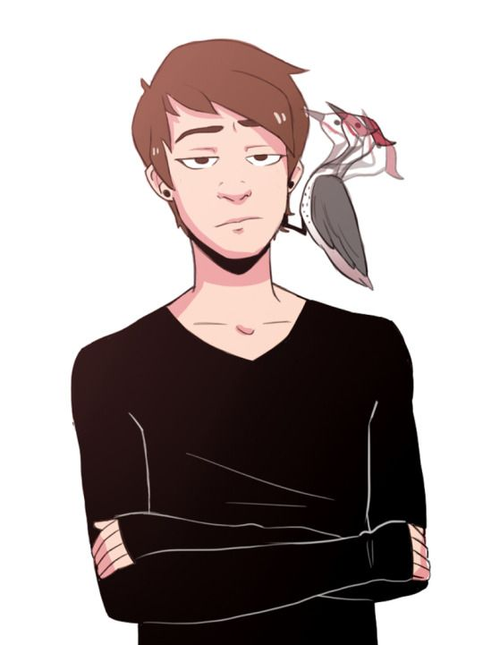 Dan and the woodpecker <--- words cannot describe how much I love this