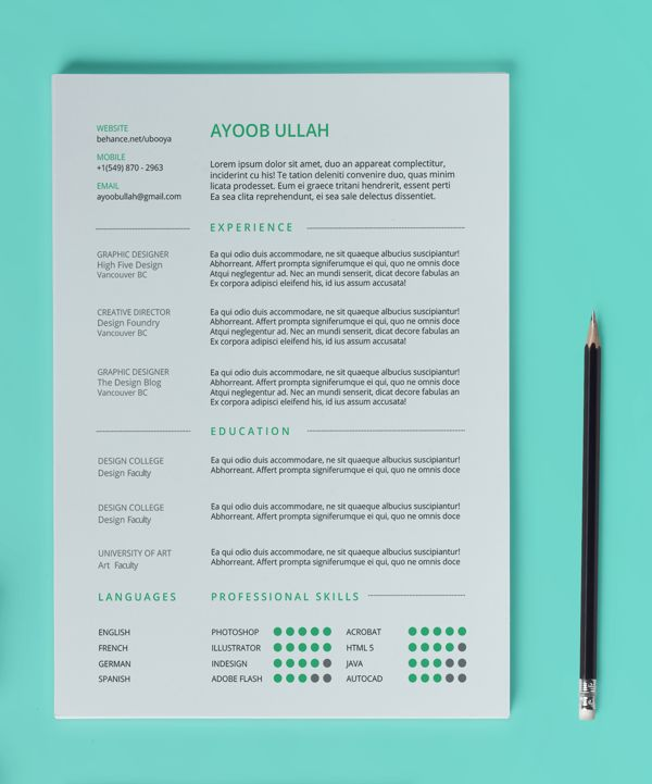 19 best CV images on Pinterest Projects, Cover letters and Design - free resume templates 2014