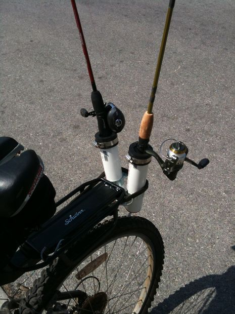bike mount fishing pole holder bikes and rod holders