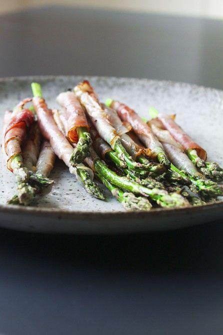 Grønne asparges og røget skinke // Aspargues and smoked ham