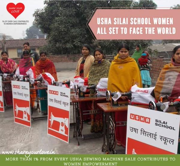 Silai School learners are given a Kit, Usha Sewing Machine, Books & a Silai School Board http://www.shareyourlove.in